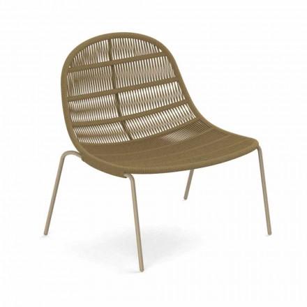 Sillón de exterior de diseño en aluminio y tela - Panama by Talenti