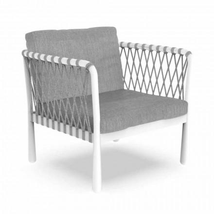 Sillón de exterior moderno de aluminio y tela - Sofy by Talenti