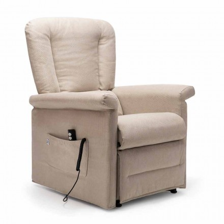 Sillon Relax Reclinable con 2 motores y ruedas, Made in Italy - Isabelle