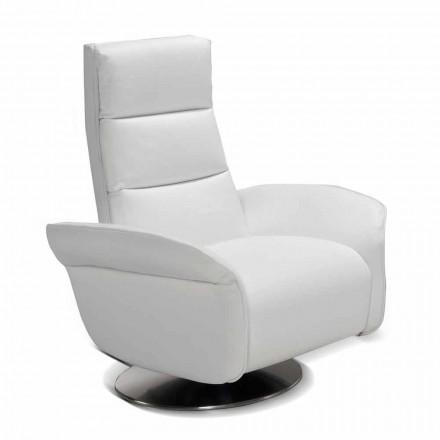 Relax sillón de 2 motores giratorio de piel / tela / cuero de imitación moderna Bluma