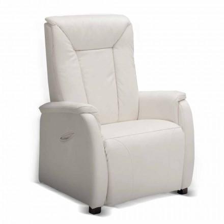 Relaja la silla alzapersona 2 motores de diseño Rosa, hechas en Italia