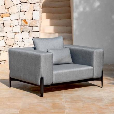 Sillón de jardín Relax Aluminio y Tela, Diseño en 3 Acabados - Filomena