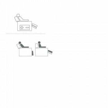 sillón giratorio motorizado relajante 2 motores de diseño italiano Bao