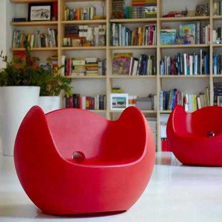 Sillón mecedora para jardín / interior de diseño Slide Blos, hecho en Italia