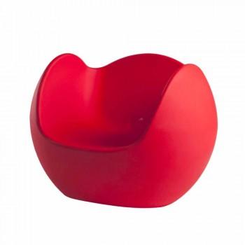 Sillón mecedora de forma redonda Slide Blos diseño coloreado hecho en Italia