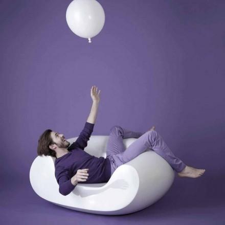 Sillón de jardín de colores moderno Slide Chubby, hecho en Italia