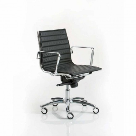 Silla de oficina ejecutiva de diseño moderno con ruedas Light Luxy