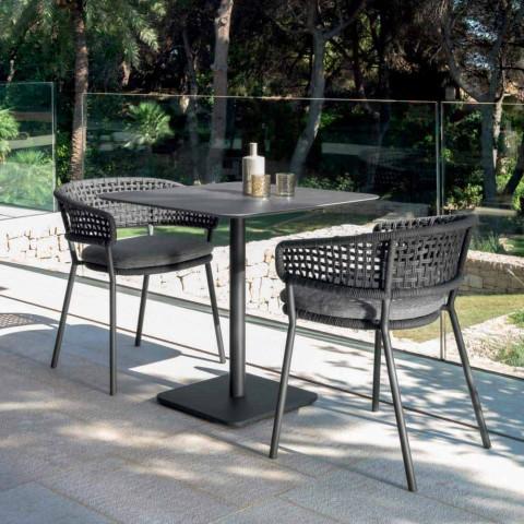 Sillón de jardín de aluminio Moon Alu Talenti, diseño moderno