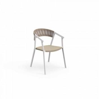 Key Talenti sillón comedor de jardín con reposabrazos, apilable