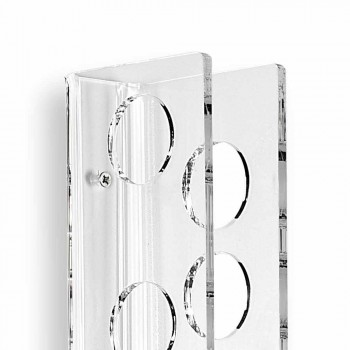 Porta biberones transparentes pequeños para bebé L6xH60xP11cm