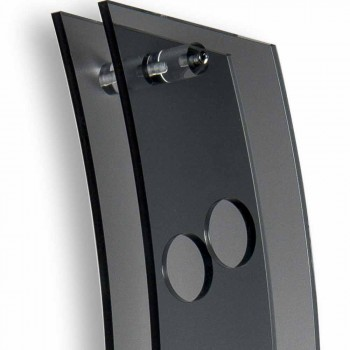 Portabotellas de pared de diseño L26,5xH100xP9cm Serry fumé