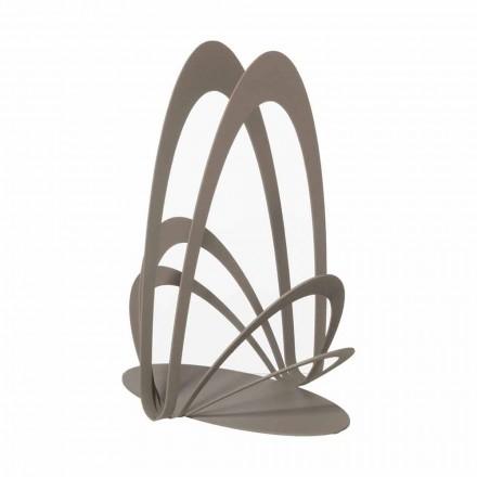 Portavasos de hierro de diseño hecho a mano, hecho en Italia - Futti