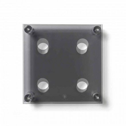 Estante de pared ahumado moderno Amin Small L30xH30xP13,6cm