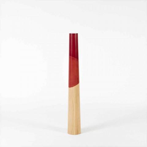 Candelero moderno de madera maciza de pino con detalles de colores - Candor