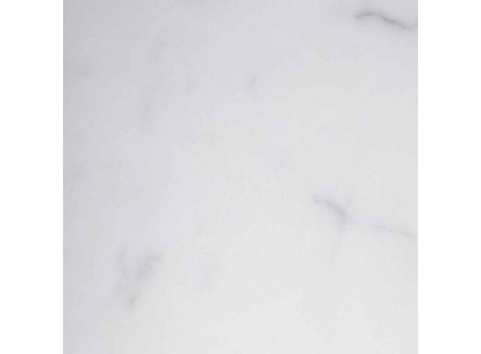 Candelero alto en mármol blanco, negro y latón Hecho en Italia - Bram