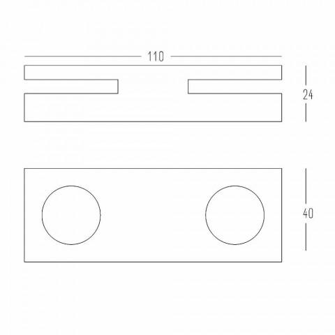 Candelero de Corian Design blanco para salón Made in Italy - Sisifo