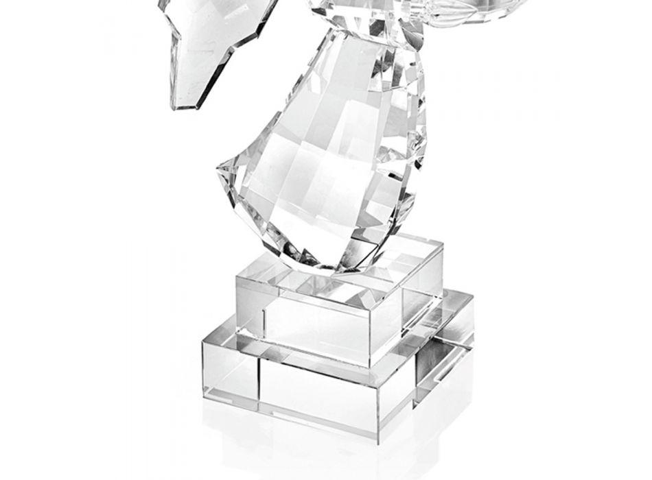 Candelabro de cristal italiano de lujo con diseño en forma de ángel - Paqui