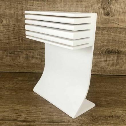 Portacuchillos de cocina en Corian blanco Kitchen Elegant Design - Ivanova