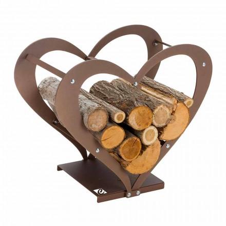 Soporte de madera para interiores en acero marrón Made in Italy - Cariño
