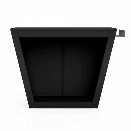 Soporte de leña para interiores o exteriores de diseño con encimera - Explanada