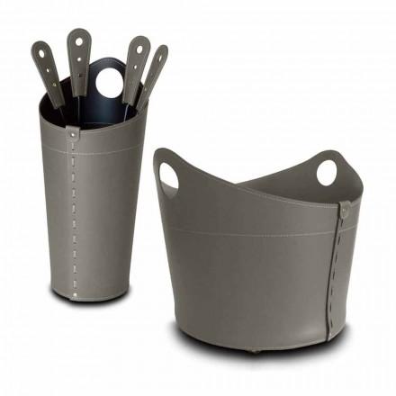 Soporte para leña, soporte para plancha y plancha para cuero Nicad, fabricado en Italia.