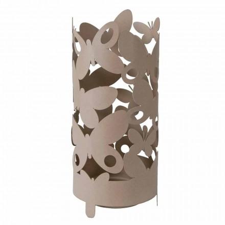 Paragüero de diseño con mariposas de hierro Made in Italy - Maura