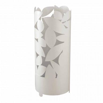 Paragüero de diseño con siluetas de hojas de hierro Made in Italy - Piumotto
