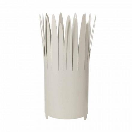 Paragüero de diseño moderno en hierro con maquinilla de afeitar Made in Italy - Fuoco