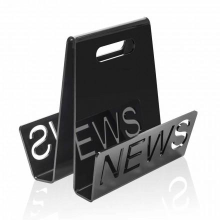 Revistero de diseño de plexiglás negro o transparente hecho en Italia - Omar