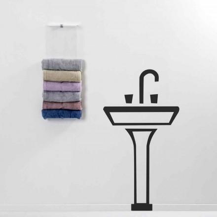 Secador de toallas de pared Max de diseño moderno hecho en Italia