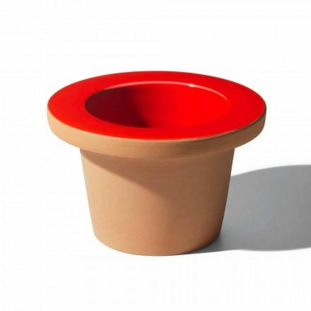 Soporte para jarrón de terracota y cerámica esmaltada Made in Italy - Phoebe