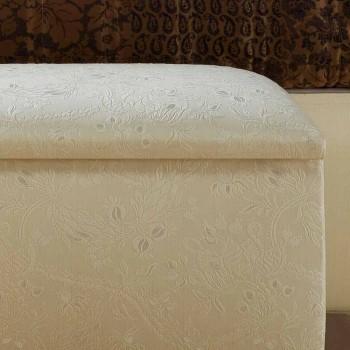 cabecera del envase puf Zais diseño clásico, fabricado en Italia