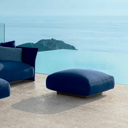 Puf de exterior Cliff Talenti moderno de tela, diseño Palomba
