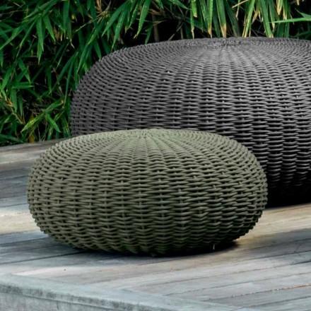 Puf pequeño y redondo Jackie by Talenti modern design para jardín