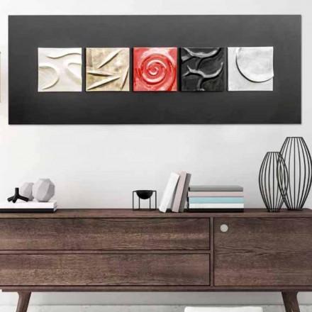 Cuadro abstracto de diseño pintado a mano Moma de Viadurini Decor