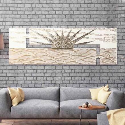 La pintura moderna con doble estructura en forma de L y detalles Dan Resin