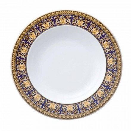 Rosenthal Versace Medusa Blue Plate diseño moderno porcelana inferior