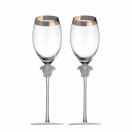 Rosenthal Versace Medusa D'Or 4 tazas vaso de vino tinto