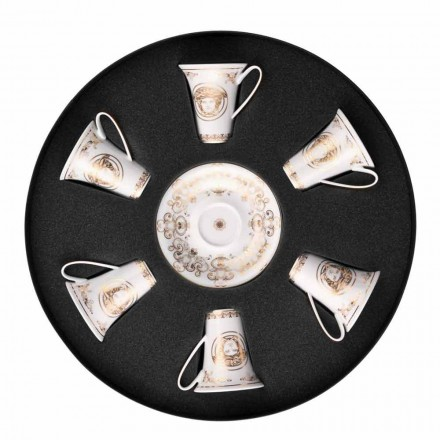 Rosenthal Versace Medusa Gala 6 de septiembre de café espresso piezas tazas de porcelana