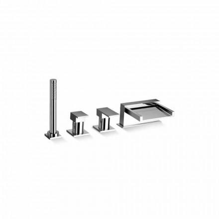 Grifo mezclador para bañera de diseño con 4 orificios Made in Italy - Bibo