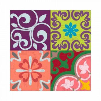 Camino de mesa de diseño colorido en PVC y poliéster con fantasía - Timio