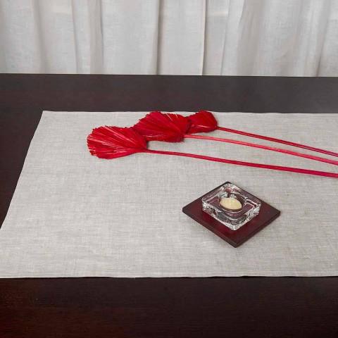 Camino de mesa de lino natural 50x150 cm Made in Italy - Blessy
