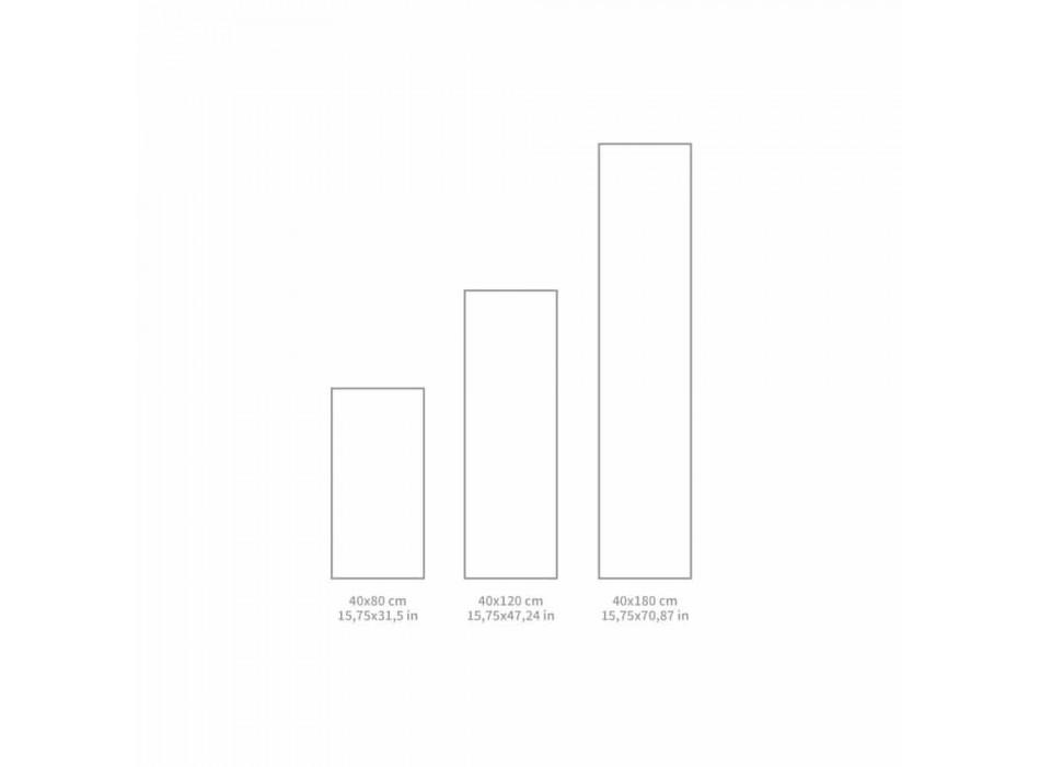 Camino de mesa moderno en PVC y poliéster rectangular - Costa
