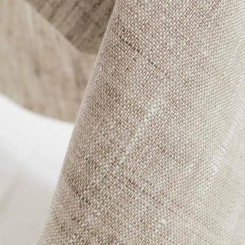Camino de mesa en puro lino natural 50x150 cm Made in Italy - Poppy