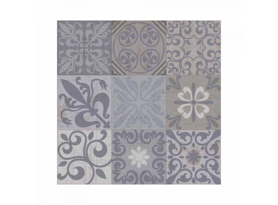 Camino de mesa moderno estampado gris o negro en PVC y poliéster - Pita