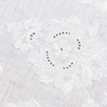 Camino de mesa 100% lino con bordado de diseño de lujo italiano - Giuggiolo