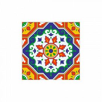 Camino de mesa de diseño coloreado en PVC y poliéster con fantasía - Meriva