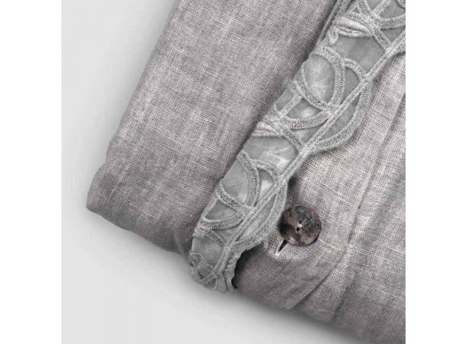 Bolsa contenedor Funda nórdica de lino con encaje y botones Synergy - Energis