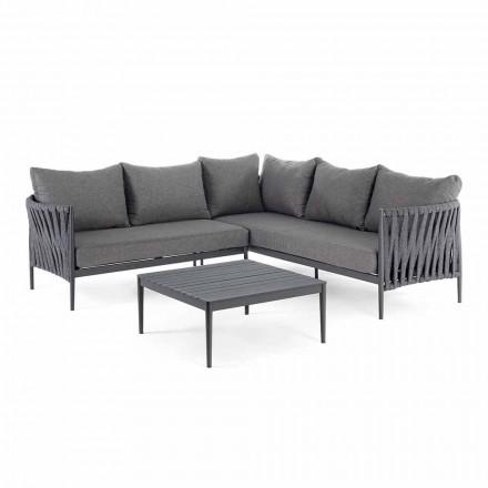 Corner Garden Design Lounge, Homemotion - Cojines extraíbles Lucio