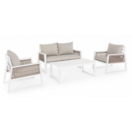 Garden Lounge en aluminio de diseño blanco o negro - Ducha de lluvia